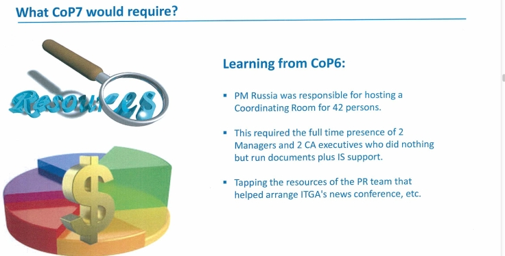 Richieste per il COP 7